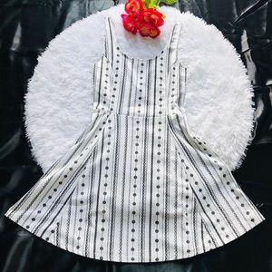 DIVIDED H&M Skater Dress WHITE & BLACK Floral S